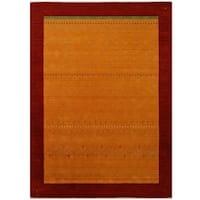 Handmade Herat Oriental Indoed Tribal Gabbeh Wool Rug (India) - 8' x 10'