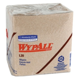 WypAll L20 Wipers 12 1/2 x 13 Brown 68/Pack 12 Packs/Carton