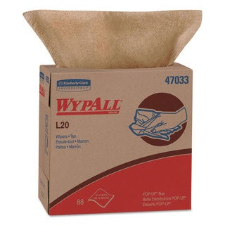 WypAll* L20 Wipers 9 1/10 x 16 4/5 Brown 88/POP-UP Box 10 Boxes/Carton