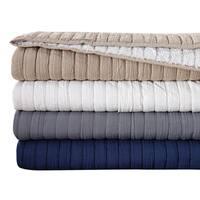 London Fog Garment Washed Crinkle Blanket