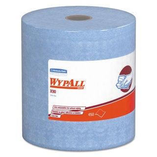 WypAll X90 Cloths Jumbo Roll 11 1/10 x 13 2/5 Denim Blue 450/Roll 1 Roll/Carton