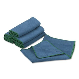 WypAll Cloths with Microban Microfiber 15 3/4 x 15 3/4 Blue 24/Carton
