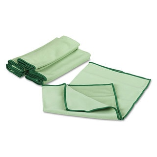 WypAll Cloths with Microban Microfiber 15 3/4 x 15 3/4 Green 24/Carton