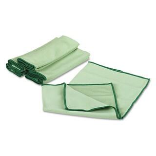 WypAll Cloths with Microban Microfiber 15 3/4 x 15 3/4 Green 24/Carton