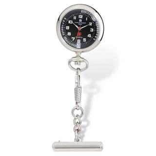 Versil Charles Hubert Black Dial Nurse Watch with Pin