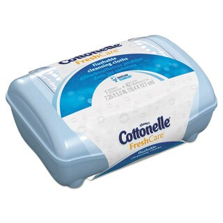 Cottonelle Fresh Care Flushable Cleansing Cloths White 3.75 x 5.5 42/Pack 8 Packs/Carton