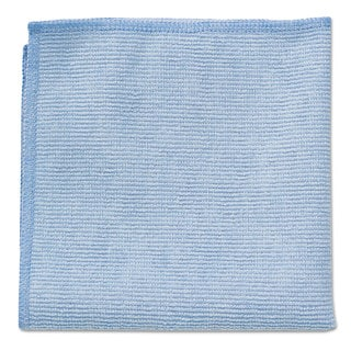Rubbermaid Commercial Microfiber Cleaning Cloths 16 X 16 Blue 24/Pack