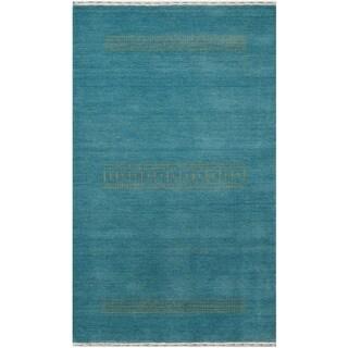 Handmade Gabbeh Wool Rug (India) - 4' x 6'