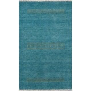 Herat Oriental Indo Hand-loomed Tribal Gabbeh Wool Rug (4' x 6')