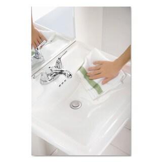 Rubbermaid Commercial HYGEN HYGEN Sanitizer Safe Microfiber Cloth 16 x 19 White/Green 288/Carton