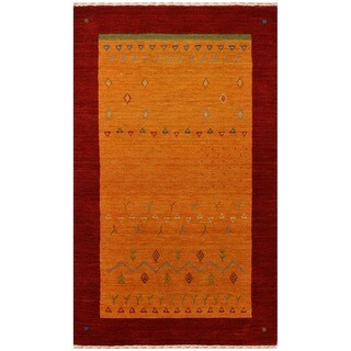 Herat Oriental Indo Hand-loomed Tribal Gabbeh Wool Rug (3' x 5')