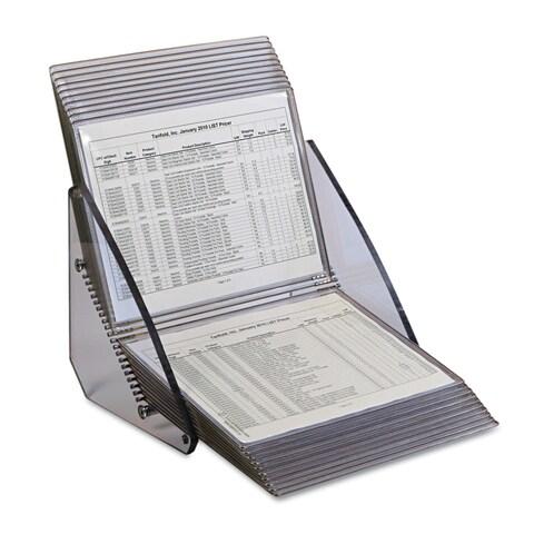 Tarifold Inc. Crystal 20 Pocket Desk Reference Unit