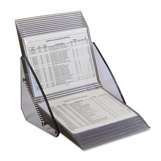 Tarifold Inc. Crystal 20 Pocket Desk Reference Unit