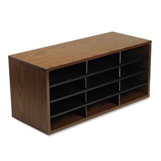 Fellowes Particle Board Desktop Sorter 12 Section 29 x 11 7/8 x 12 15/16 Medium Oak