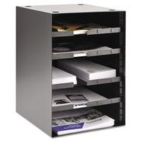 SteelMaster Steel Desktop Sorter Four Adjustable Shelves 11 1/2 inches x 12 inches x 19 inches Black