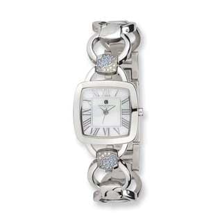 Charles Hubert Stainless Steel White Mother Of Pearl Dial Quartz Watch