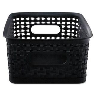 Advantus Weave Bins 9 7/8 x 7 3/8 x 4 Plastic Black 3 Bins