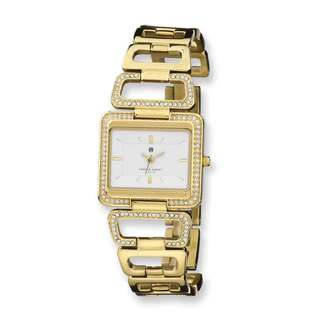 Charles Hubert Goldplated Stainless Steel White Dial Quartz Watch