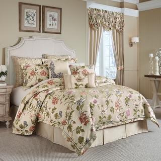 croscill daphne jacquard woven floral 4piece comforter set