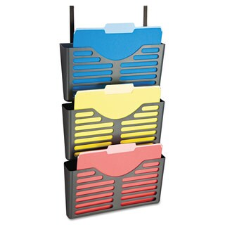 Officemate Filing System with Hanger Set 3 Pockets Letter 28 x 13 1/2 x 4 3/4 Charcoal