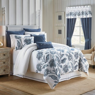 croscill clayra cotton floral embroidery bedding collection