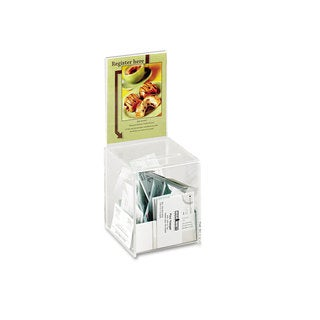 Safco Small Acrylic Collection Box 5 1/2 x 5 1/2 x 13 Clear