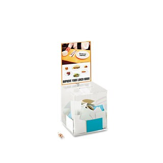 Safco Large Acrylic Collection Box 9 1/4 x 9 1/4 x 21 Clear