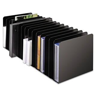 SteelMaster Message Rack 15-Compartment Steel 6 1/4 x 16 1/10 x 6 1/2 Black