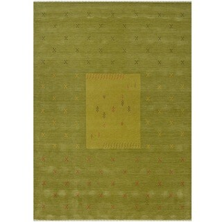 Handmade Gabbeh Wool Rug (India) - 8' x 10'