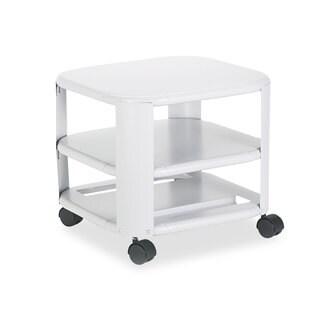 Master Mobile Printer Stand Three-Shelf 17-4/5-inch wide x 17-4/5-inch deep x 14-3/4h Platinum