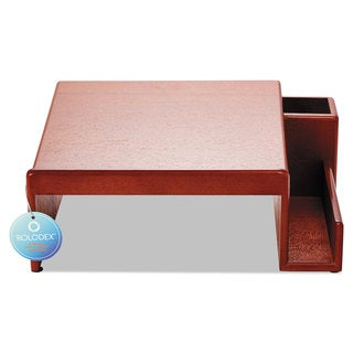 Rolodex Wood Tones Phone Center Desk Stand 12 1/8 x 10 Mahogany