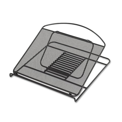 Safco Onyx Adjustable Steel Mesh Laptop Stand 12 1/4 x 12 1/4 x 1 Black