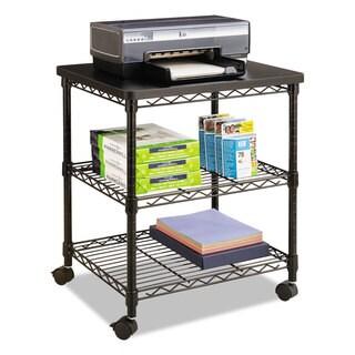 Safco Desk Side Wire Machine Stand Three-Shelf 24-inch wide x 20-inch deep x 27h Black
