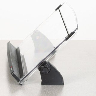 3M In-Line Adjustable Desktop Copyholder Plastic 150 Sheet Capacity Black/Clear
