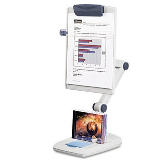Fellowes Flex Arm Weighted Base Copyholder Plastic 150 Sheet Capacity Platinum