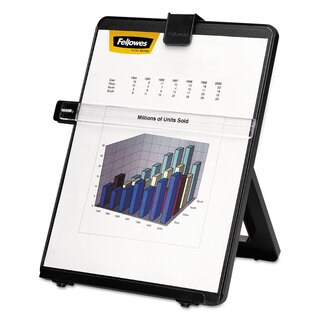 Fellowes Non-Magnetic Letter-Size Desktop Copyholder Plastic 125 Sheet Capacity Black