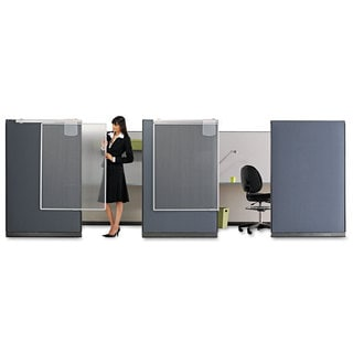 Quartet Workstation Privacy Screen 36-inch wide x 48d Translucent Clear/Silver