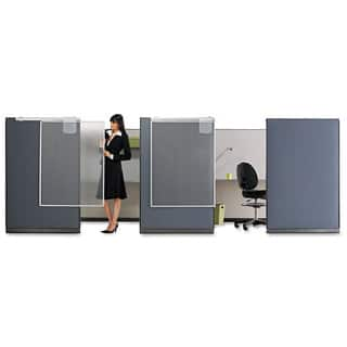 Quartet Workstation Privacy Screen 36-inch wide x 48d Translucent Clear/Silver https://ak1.ostkcdn.com/images/products/13927542/P20560311.jpg?impolicy=medium