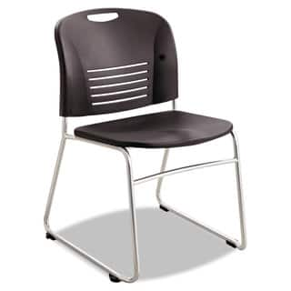 Safco Vy Series Stack Chairs Plastic Back/Seat Sled Base Black 2/Carton https://ak1.ostkcdn.com/images/products/13927544/P20560313.jpg?impolicy=medium
