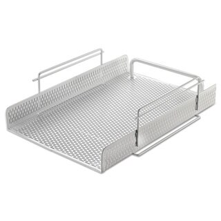 Artistic Urban Collection Punched Metal Letter Tray White