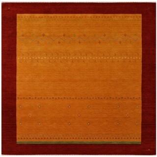 Herat Oriental Indo Hand-loomed Tribal Gabbeh Wool Rug (8' x 8')