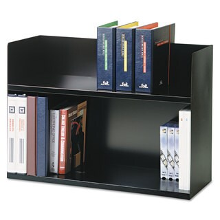 SteelMaster Two-Tier Book Rack Steel 29 1/8 x 10 3/8 x 20 Black