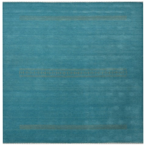 Handmade Gabbeh Wool Rug (India) - 8' x 8'