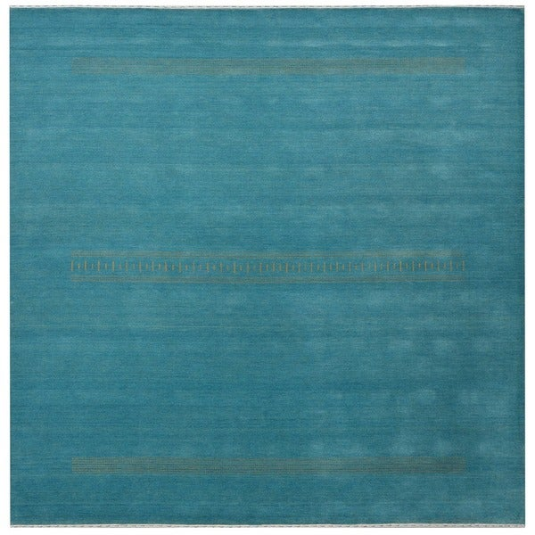 Handmade Gabbeh Wool Rug (India) - 8' x 8'. Opens flyout.
