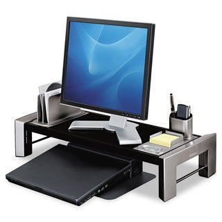Fellowes Professional Series Flat Panel Workstation 25 7/8 x 11 1/2 x 4 1/2 Black/Silver