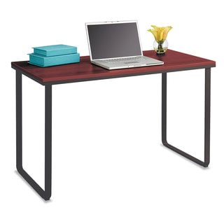Safco Steel Workstation Desk 47-1/4-inch wide x 24-inch deep x 28-3/4-inch high Cherry/Black