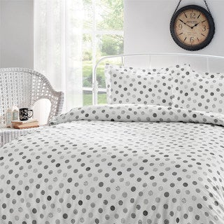 Brielle Circlets Printed Cotton Sateen Duvet Cover Set