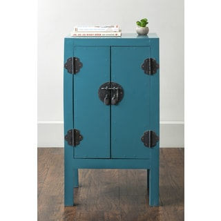 East At Main's Dyer Blue Rectangular Mahogany Accent Table