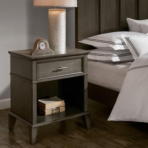 Madison Park Signature Yardley Reclaimed Grey One Drawer Night Stand