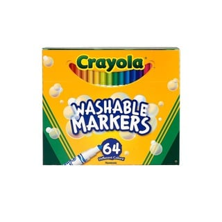 Crayola Washable Skinny Markers (2 Packs of 64)